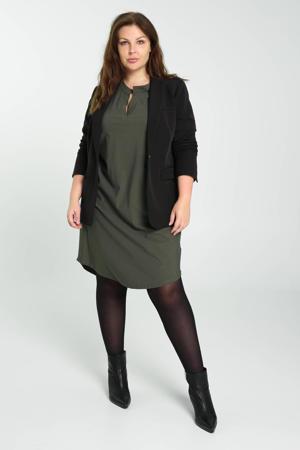 jurk van travelstof kaki