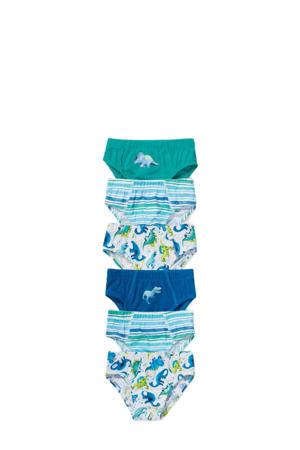 slip - set van 6 blauw/groen/wit