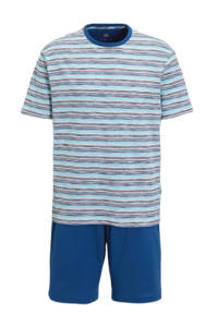 C&A shortama met strepen lichtblauw/donkerblauw, Lichtblauw/donkerblauw