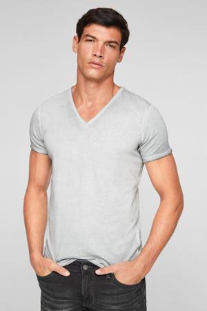 regular fit T-shirt lichtgrijs