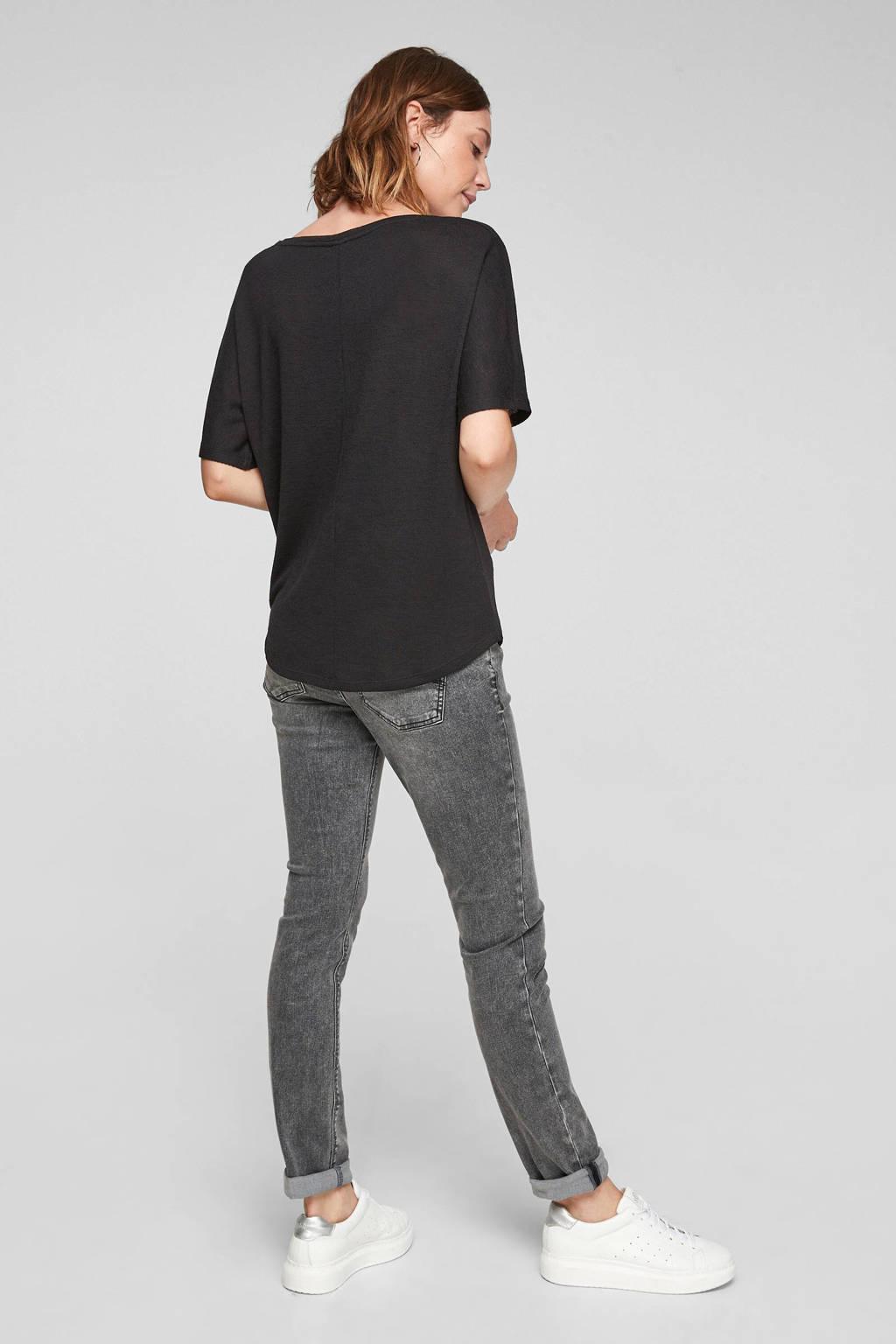 Q/S designed by loose fit t-shirt zwart, Zwart