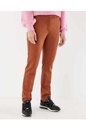 slim fit pantalon bruin