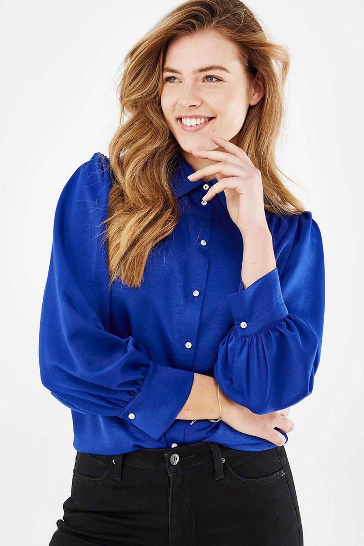 Mexx geweven blouse blauw, Blauw