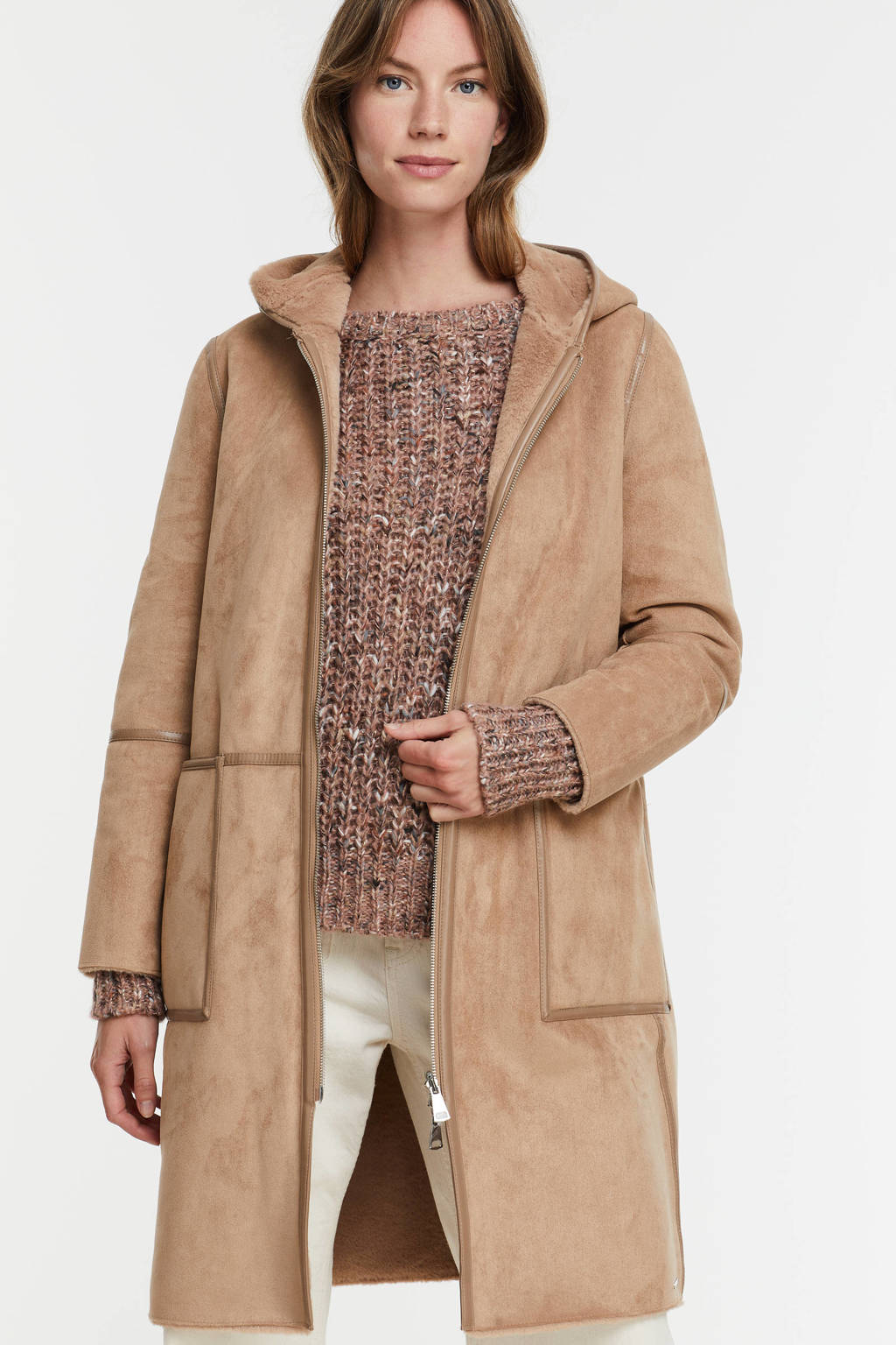 Rino & Pelle reversible coat Ova beige, Beige