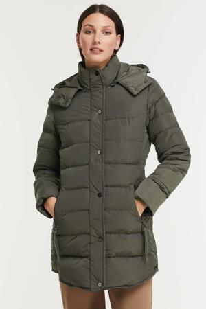 gewatteerde jas Nusa zwart
