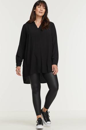 coated fleece legging PCNEW zwart