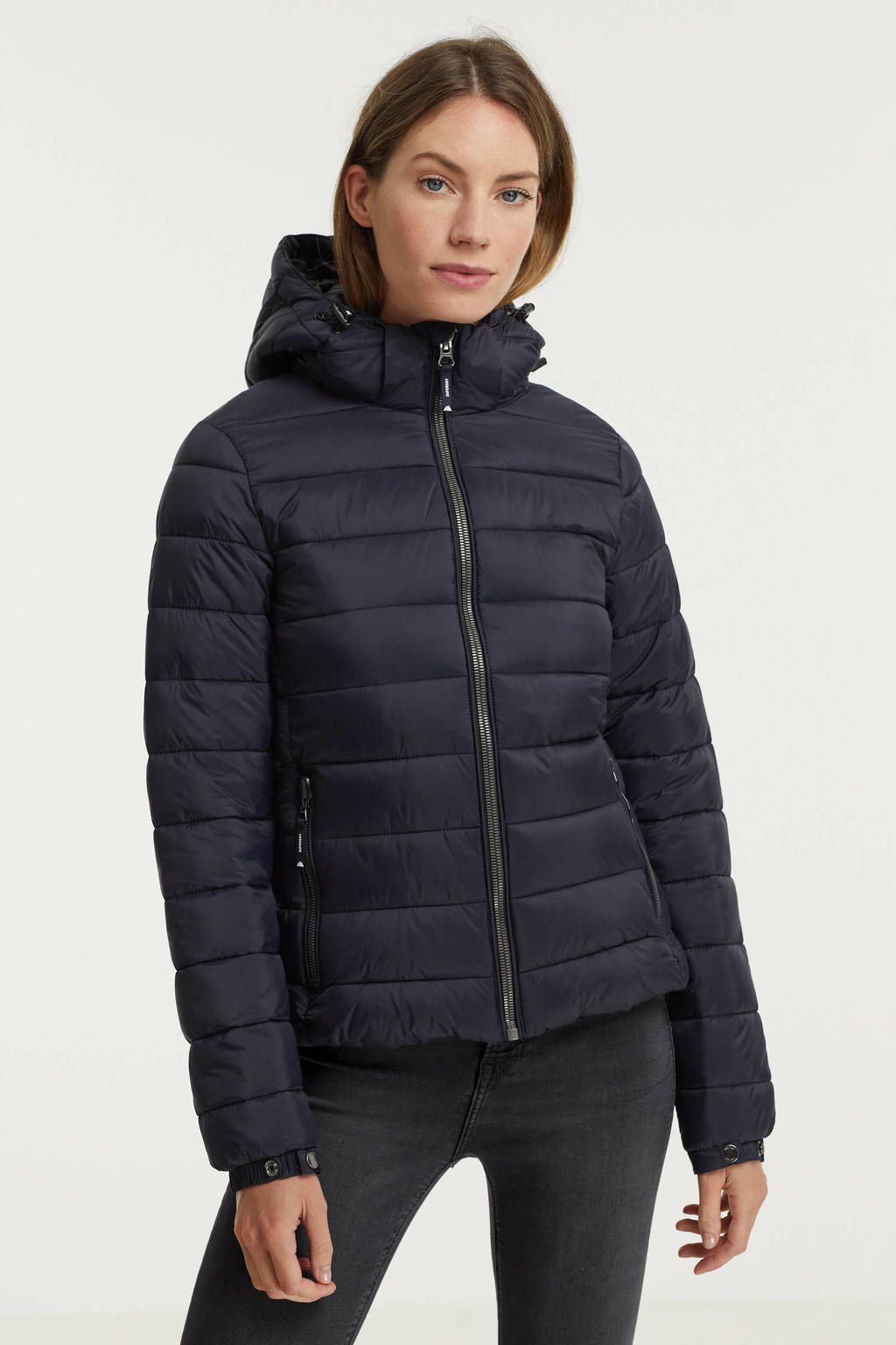 Superdry gewatteerde jas Classic Fuji donkerblauw, Donkerblauw