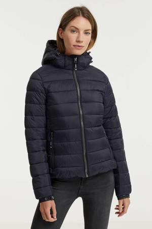 gewatteerde jas Classic Fuji donkerblauw