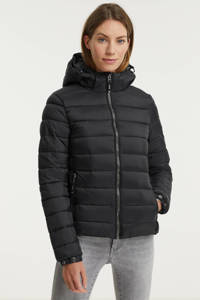Superdry gewatteerde jas Classic Fuji zwart, Zwart