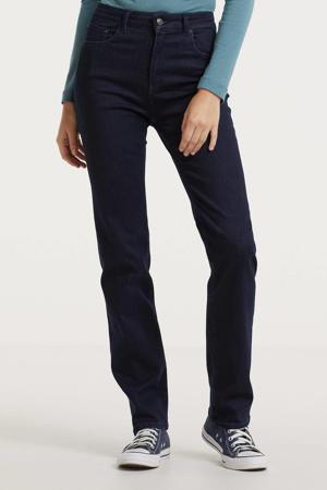 high waist straight fit jeans FLORIE dark denim
