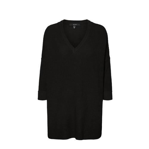 VERO MODA CURVE gebreide tuniek VMLEANNA van gerecycled polyester zwart