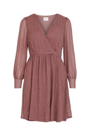 A-lijn jurk VISOLLY van gerecycled polyester oudroze
