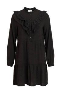VILA jurk VIMALIA met volant zwart, Zwart