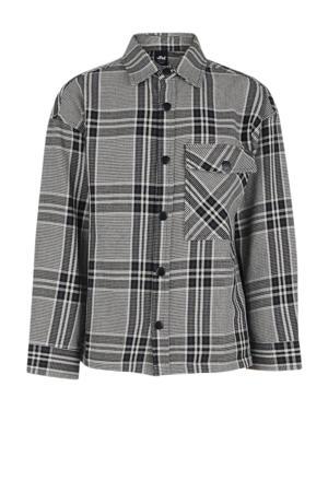 geruit overhemd Selim grijs/zwart/wit