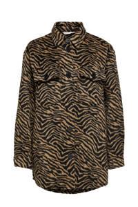 ONLY shacket ONLANIMAL met zebraprint bruin/zwart, Bruin/zwart