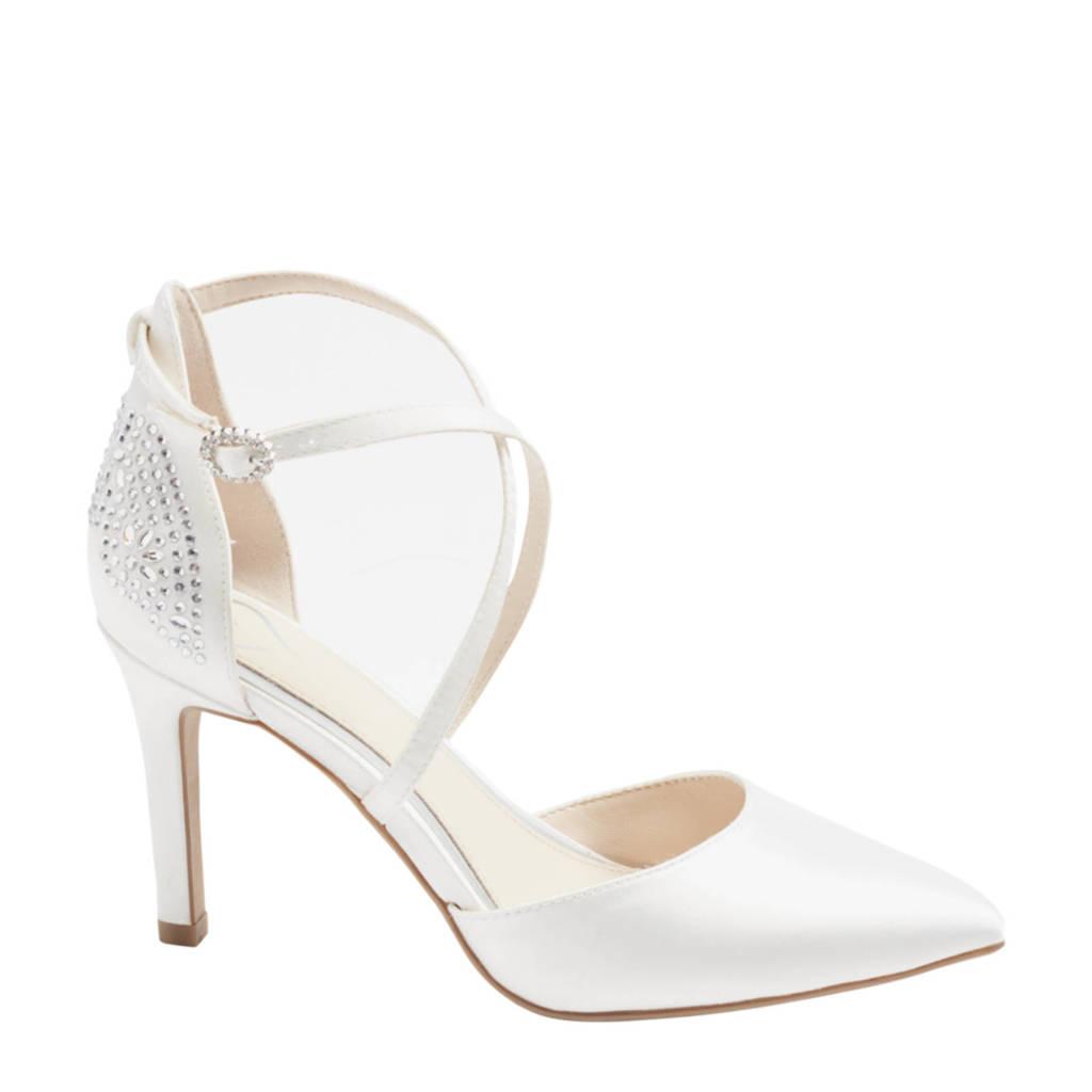 Graceland   pumps met sierstenen wit, Wit/Parelwit