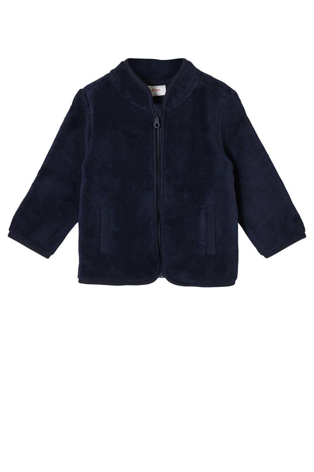 s.Oliver baby fleece vest donkerblauw, Donkerblauw