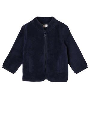 baby fleece vest donkerblauw