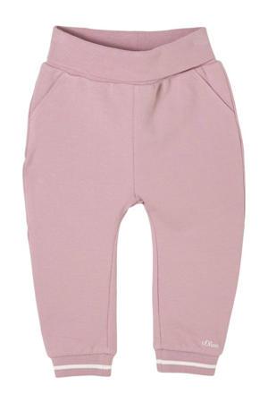 baby joggingbroek roze/wit
