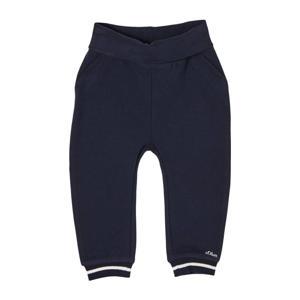 baby gemêleerde regular fit joggingbroek donkerblauw/wit