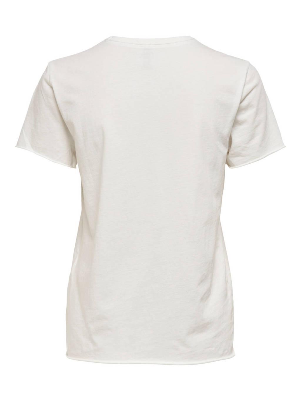ONLY T-shirt ONLLUCY met printopdruk ecru, Ecru