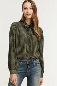 FREEQUENT blouse FQDOTKA-PU-SMOCK met all over print groen, Groen