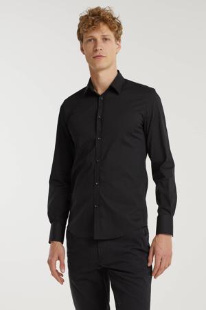 super slim fit overhemd zwart