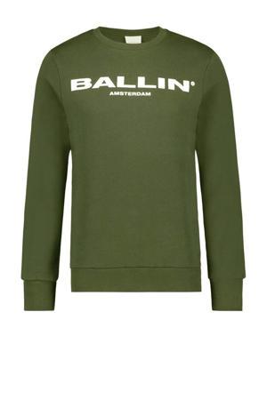 sweater van biologisch katoen army