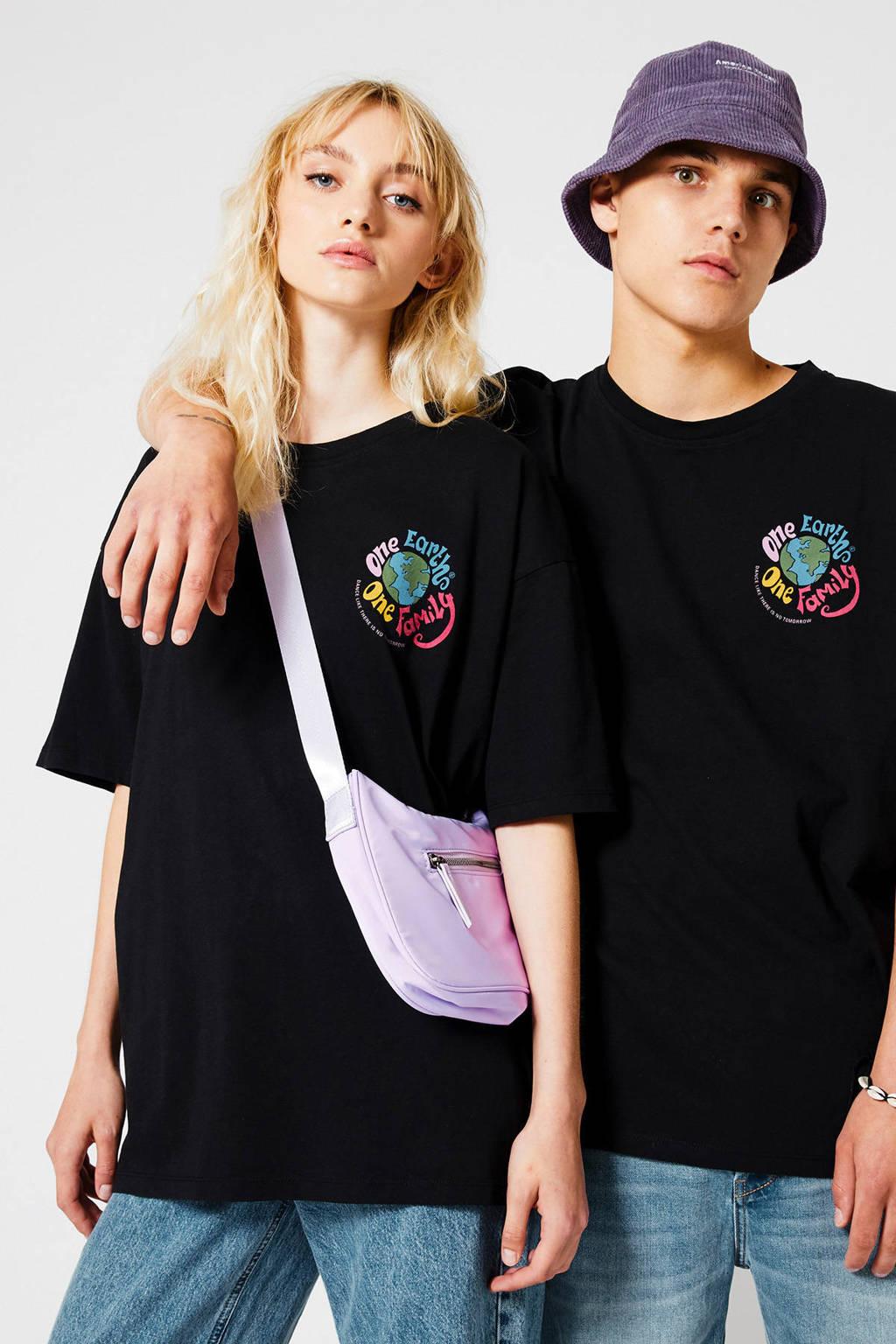 America Today T-shirt Eiden Ches van biologisch katoen washed black
