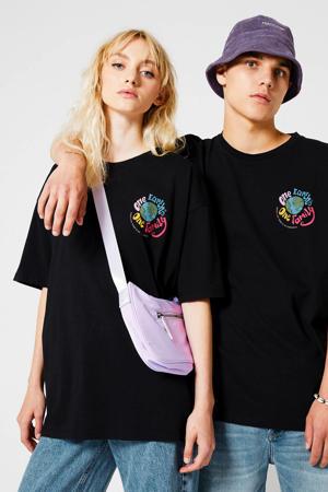 T-shirt Eiden Ches van biologisch katoen washed black