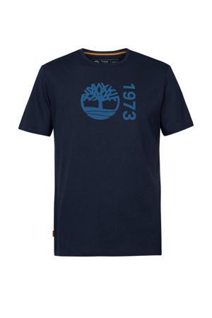 T-shirt met biologisch katoen marine