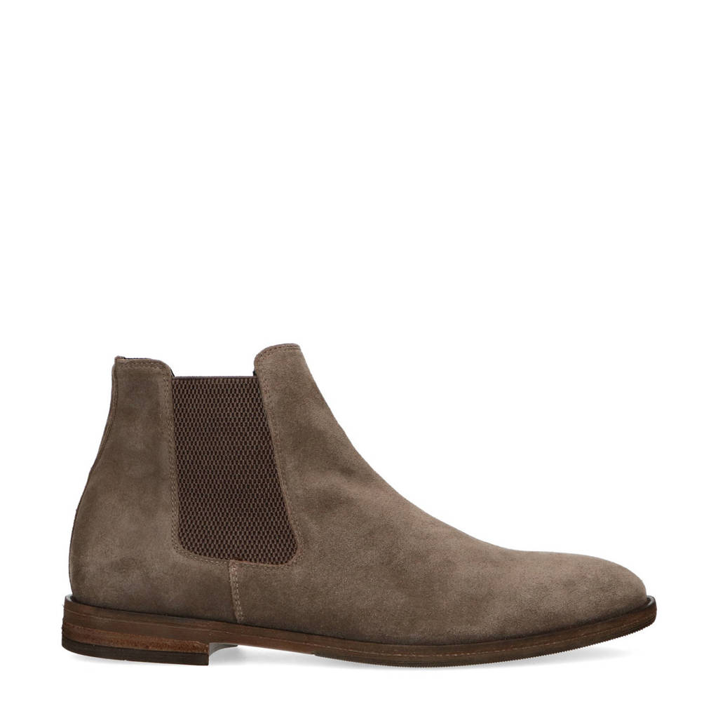 Manfield   suède chelsea boots taupe, Taupe