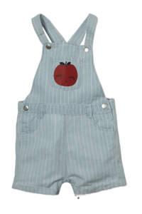 C&A Baby Club gestreepte regular fit tuinbroek lichtblauw, Lichtblauw