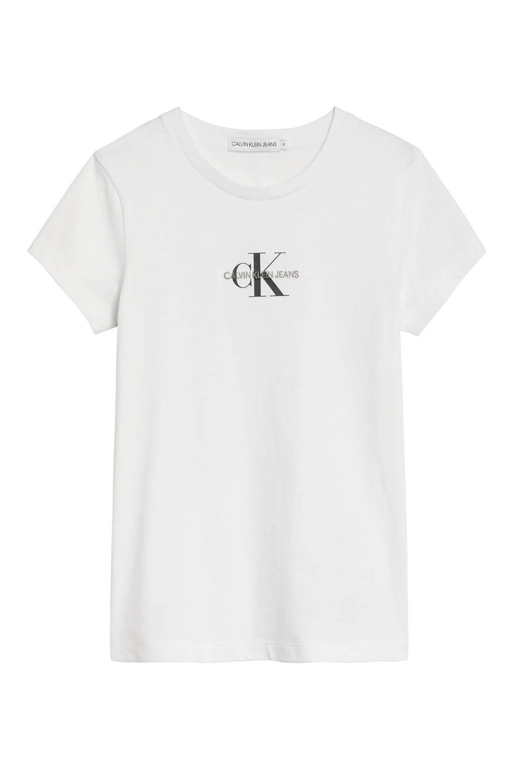 CALVIN KLEIN JEANS T-shirt Geen van biologisch katoen wit, Wit