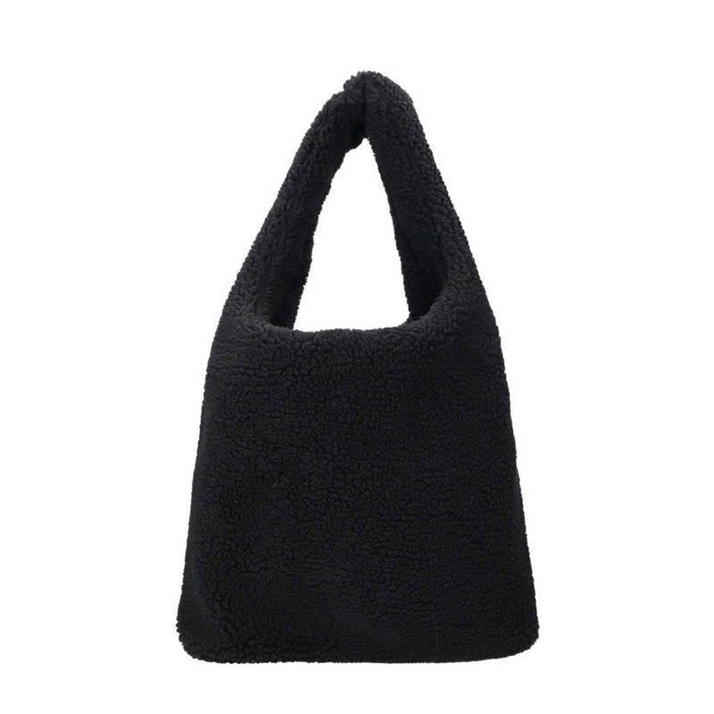 Sacha  teddy shopper zwart, Zwart