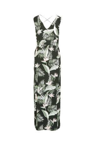 maxi jurk VMEASY met slangenprint donkergroen