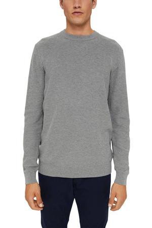 trui van biologisch katoen grijs melange