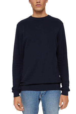 trui van biologisch katoen donkerblauw