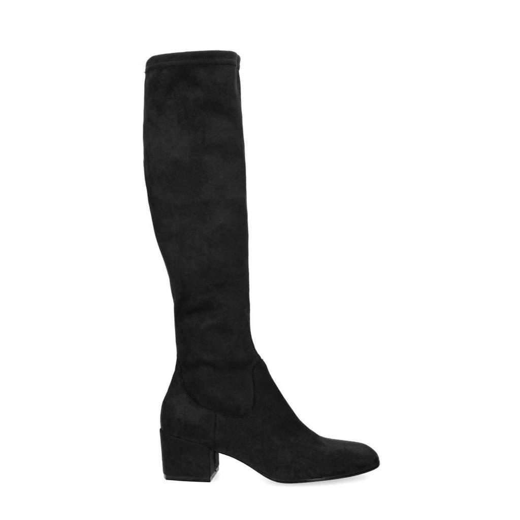 Manfield   stretch laarzen zwart, Zwart