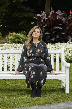 limited edition jurk met smock  met bloemenprint