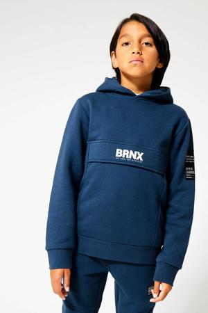 hoodie Scot met logo blauw