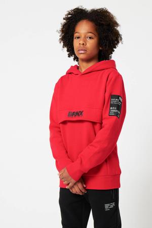 hoodie Scot met logo rood