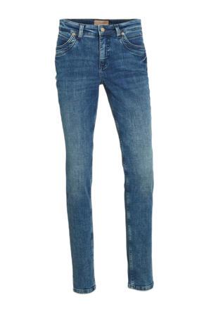 high waist straight fit jeans Mel dark blue modern wash