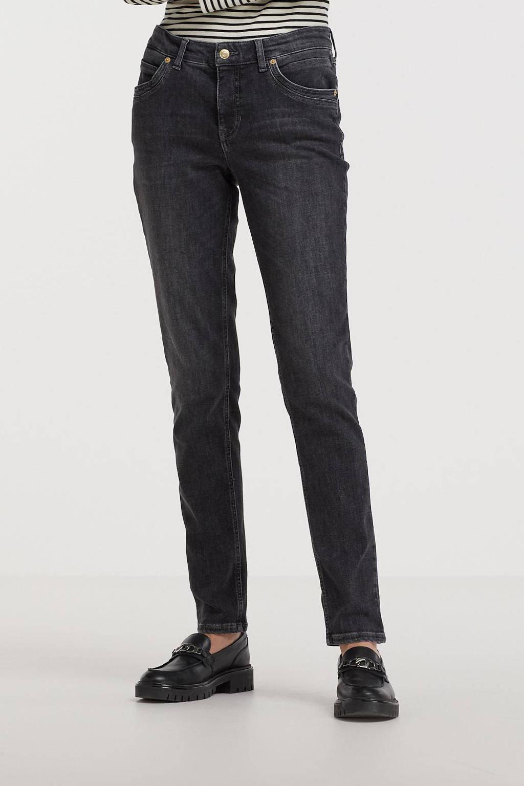 MAC high waist straight fit jeans Mel black night authentic, Black night authentic