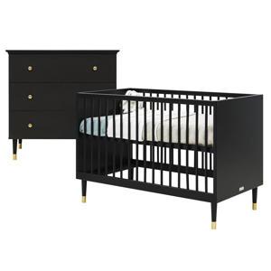 2-delige babykamer Mat Zwart Cloë