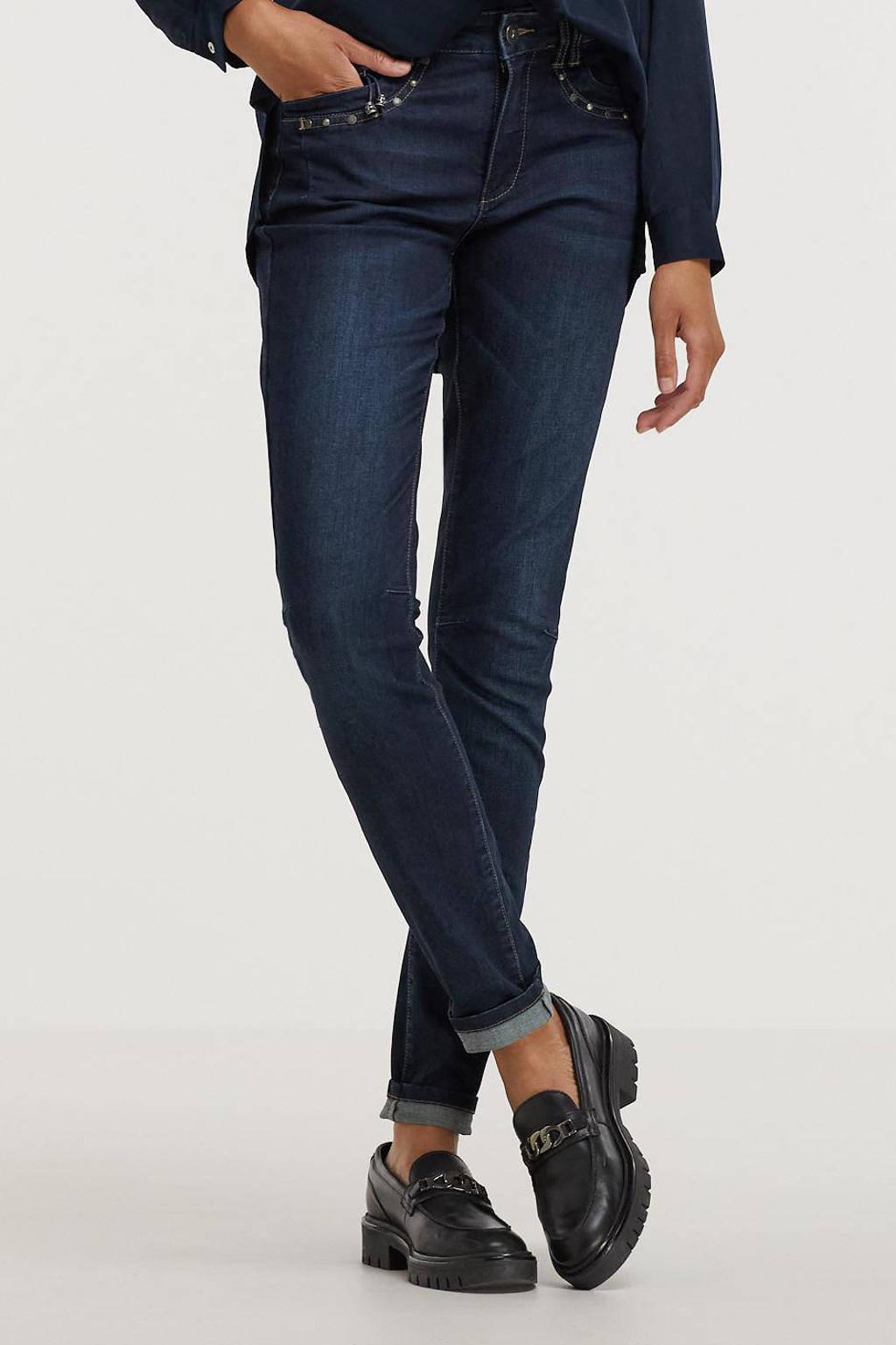 Geisha skinny jeans dark blue denim, Dark blue denim