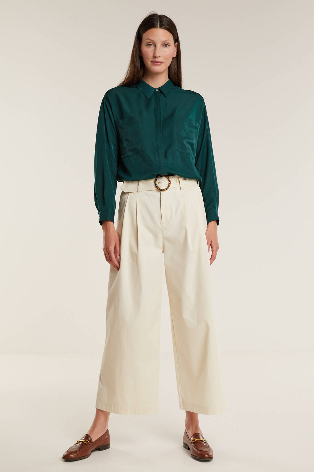 Geisha blouse donkergroen, Donkergroen