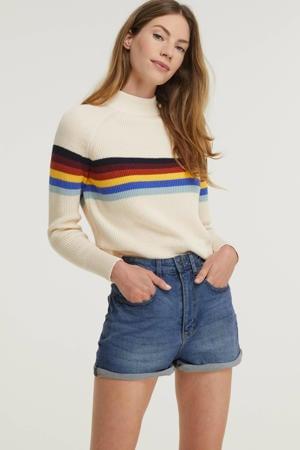 high waist jeans short OLIVIA dark denim
