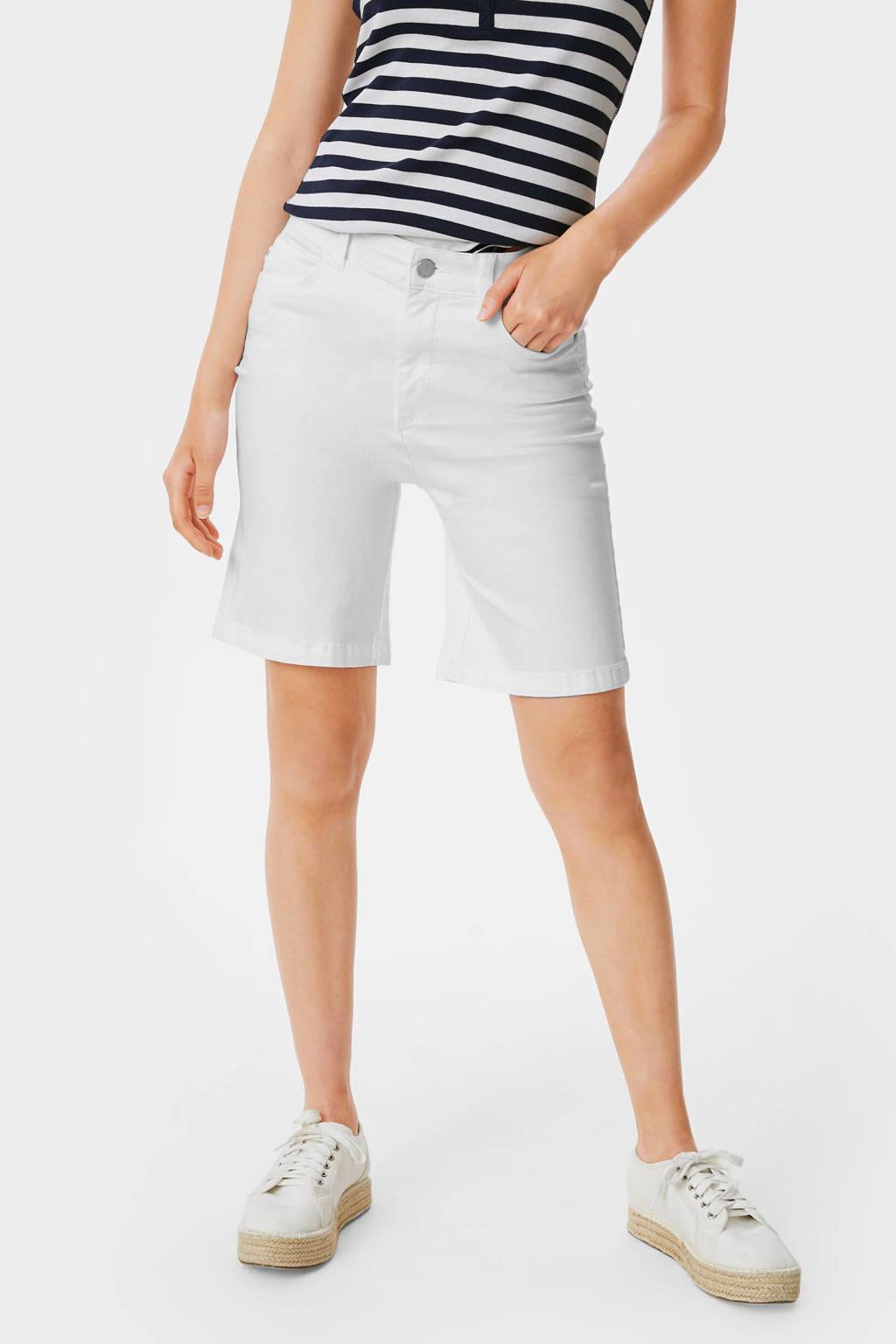 C&A bermuda jeans wit, Wit