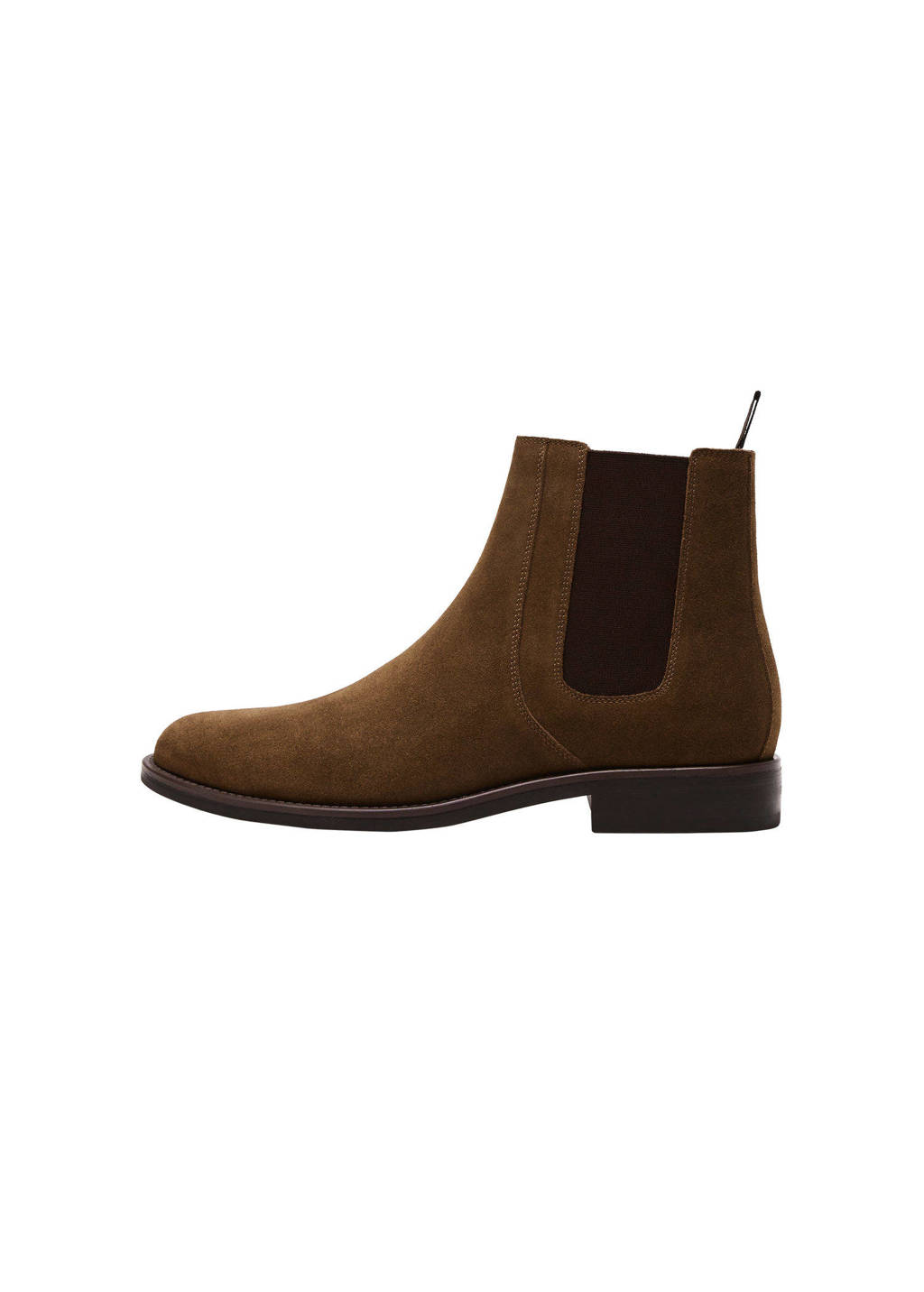 Mango Man   suède chelsea boots bruin, Bruin